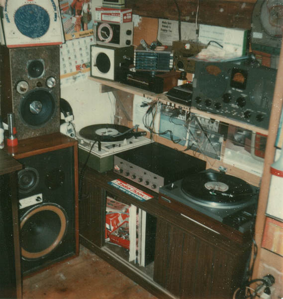 A 1970s Teenagers Bedroom Vintage Stereo Equipment